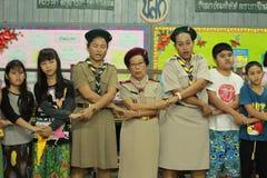 Het Thaise kamp van studentenverkenners royalty-vrije stock foto's