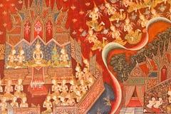 Het Thaise mural schilderen Stock Foto