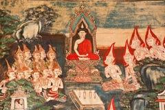 Het Thaise mural schilderen Stock Fotografie