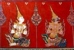 Het Thaise mural schilderen royalty-vrije stock afbeelding