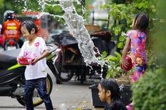 Het Thaise nieuwe jaar van Songkarn - waterfestival Royalty-vrije Stock Afbeeldingen