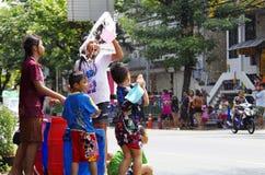 Het Thaise nieuwe jaar van Songkarn - waterfestival Royalty-vrije Stock Fotografie
