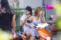 Het Thaise nieuwe jaar van Songkarn - waterfestival Royalty-vrije Stock Foto