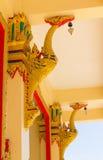 Het Thaise Ontwerp van het Patroon op muur Royalty-vrije Stock Fotografie
