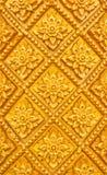 Het Thaise ontwerp van het stijlpatroon handcraft op hout Stock Fotografie