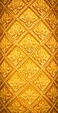 Het Thaise ontwerp van het stijlpatroon handcraft op hout Stock Foto's