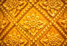 Het Thaise ontwerp van het stijlpatroon handcraft op hout Royalty-vrije Stock Foto's
