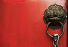 Het Thaise ornament van de tempeldeur Stock Fotografie