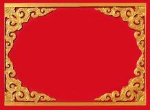 Het Thaise patroon van de kunstmuur stock foto's