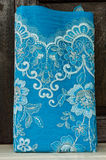 Het Thaise patroon van het zijdemotief. stock foto
