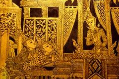 Het Thaise schilderen in traditionele stijl royalty-vrije stock afbeelding