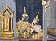 Het Thaise schilderen van de kunst Stock Afbeeldingen
