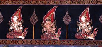 Het Thaise Schilderen van de Muurschildering Royalty-vrije Stock Foto