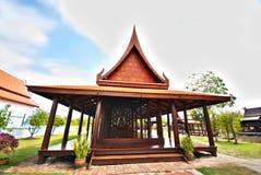 Het Thaise stijlpaviljoen Stock Foto