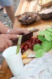 Het Thaise traditionele koken stock foto
