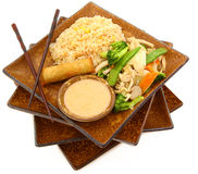 Het Thaise Voedsel van de Kip van de Erwt van de sneeuw Stock Fotografie