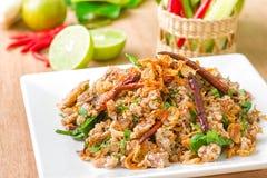 Het Thaise voedsel van de Larbeend Stock Afbeelding