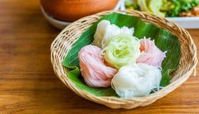 Het Thaise voedsel van de rijstnoedel Stock Afbeelding