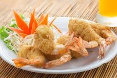 Het Thaise voedsel van garnalentempura Royalty-vrije Stock Foto's