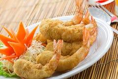 Het Thaise voedsel van garnalentempura Royalty-vrije Stock Afbeeldingen