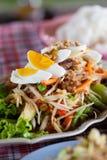 Het Thaise voedsel van Somtum Royalty-vrije Stock Afbeeldingen