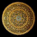 Het Thaise zuidenambacht met de cirkelvorm van het kleurenglas isoleert Royalty-vrije Stock Foto's