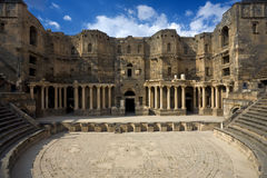 Het theater in Bosra Stock Fotografie