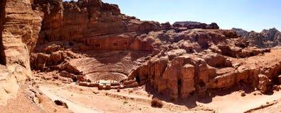 Het theater in Petra Stock Foto