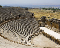 Het Theater van Antic in Hierapolis. stock foto's
