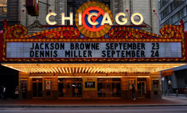 Het Theater van Chicago stock afbeelding