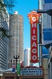 Het Theater van Chicago op het Noorden State Street op het communautaire Lijngebied van Chicago Royalty-vrije Stock Fotografie
