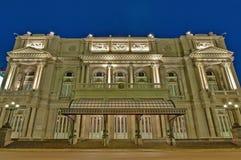 Het Theater van de dubbelpunt in Buenos aires, Argentinië Stock Foto's