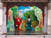 Het theater van de marionet Stock Afbeeldingen