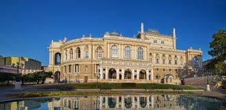 Het theater van de opera in Odessa de Oekraïne Stock Afbeeldingen