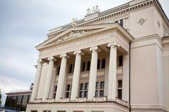 Het theater van de opera in Riga Stock Afbeelding