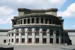 Het theater van de opera in Yerevan stock afbeeldingen