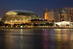 Het Theater van de promenade op de Baai bij schemer Royalty-vrije Stock Foto