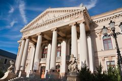 Het Theater van de Staat van Oradea Stock Foto
