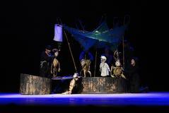 Het Theater van de Zilinamarionet voert het verhaal van Peter Pan uit royalty-vrije stock foto