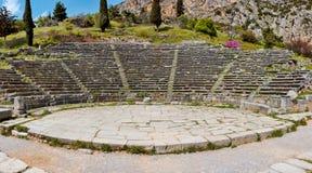 Het theater van Delphi Stock Foto's