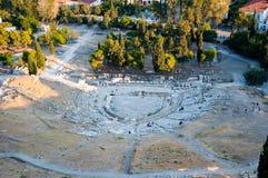 Het Theater van Dionysus Eleuthereus. Athene, Griekenland. stock afbeelding