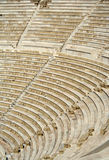 Het theater van Dionysus op Akropolis Stock Foto