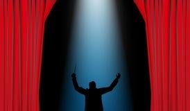 Het theater van Dirigent Stock Fotografie
