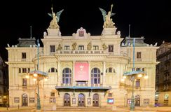 Het Theater van Divadlona Vinohradech Royalty-vrije Stock Afbeeldingen