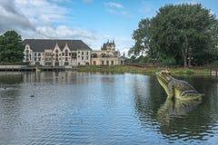 Het theater van het Efteling-themapark in Nederland stock afbeeldingen