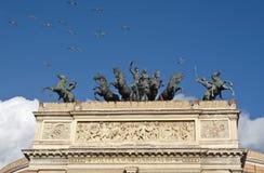 Het theater van Garibaldi van Politeama in Palermo Royalty-vrije Stock Foto