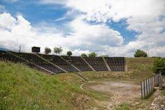 Het Theater van Hellenistic in Dion Royalty-vrije Stock Fotografie