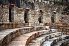 Het theater van Hellenistic in Ohrid Stock Afbeelding