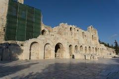 Het Theater van Herod Atticus, in Athene, de hoofdstad van Griekenland Royalty-vrije Stock Foto's