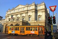 Het Theater van het La Scala in Milaan stock fotografie